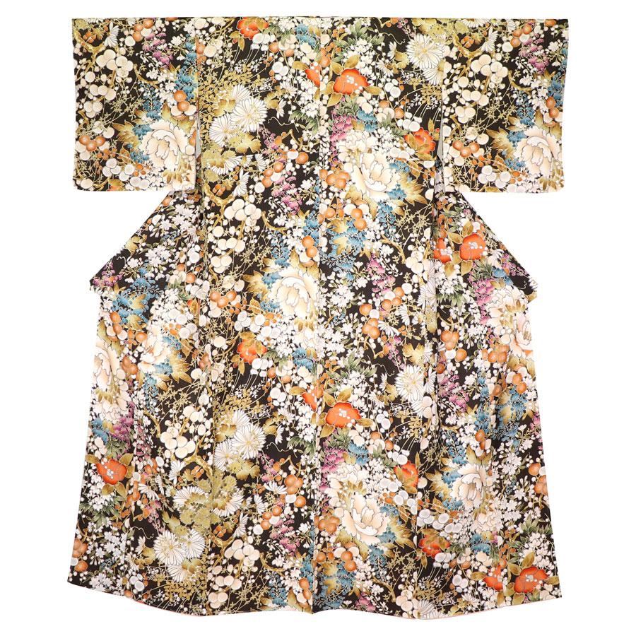 千總製の四季花の着物
