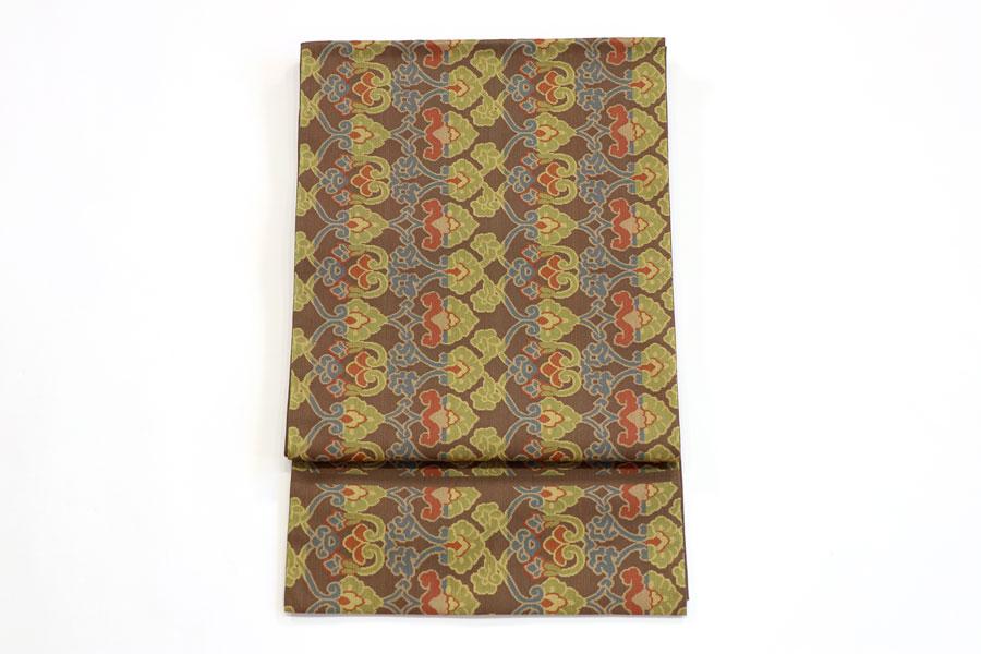 川島製の草木染の袋帯