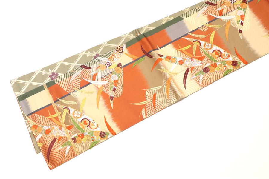 笹文の袋帯