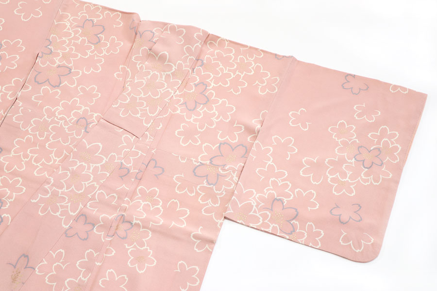 桜文の小紋