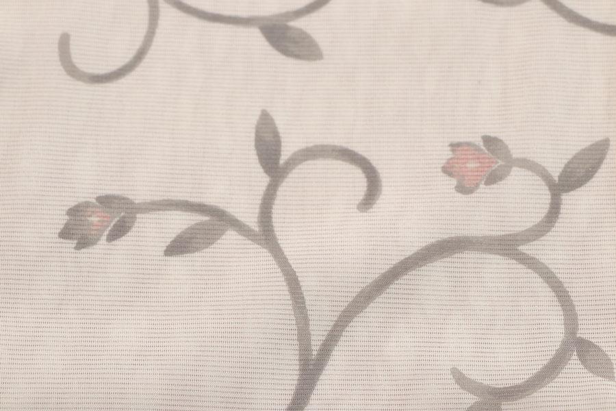 紗合わせの唐草文の小紋