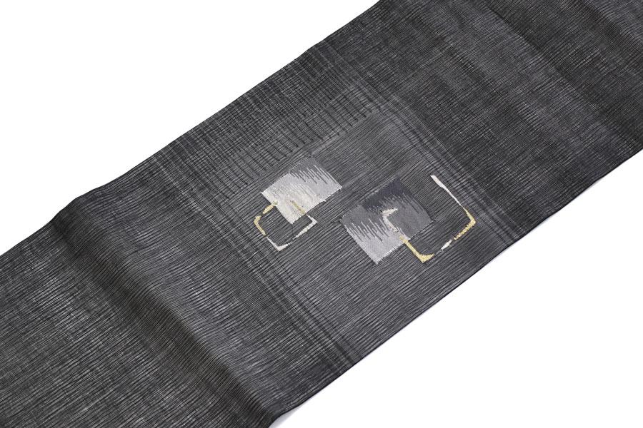 黒の紗の夏の名古屋帯