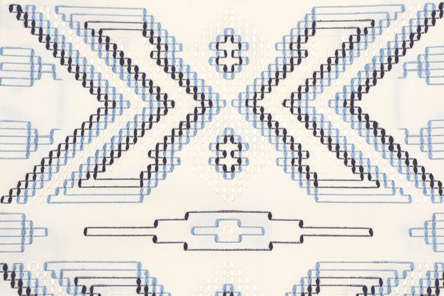 白地の花織の名古屋帯