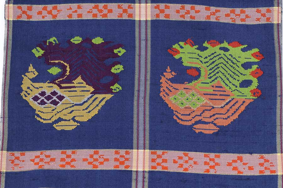 龍村平蔵の甲比丹孔雀の袋帯