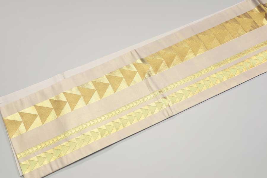 川島織物の金の袋帯